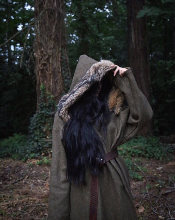 Wool Coyote Viking Birka Kaftan style Coat. Perfect garb for Norse, SCA and LARP Reenactment