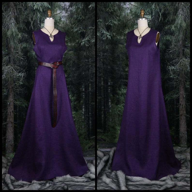 With Viking And Wide NorseSca Sleeveless Garb For Linen Larp Side Reenactment Dressserk PanelsPerfect MpqGSUzV
