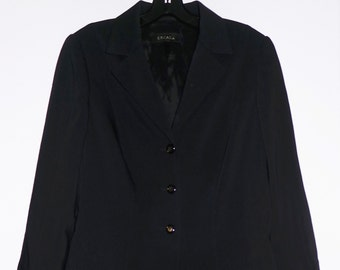 Beautiful ESCADA Black Wool Womens Button Jacket Coat Blazer, 42-S