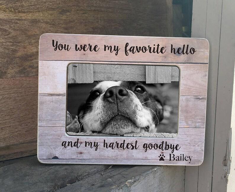 On Sale Personalized Pet Loss Frame / Pet Memorial Frame / Pet image 0