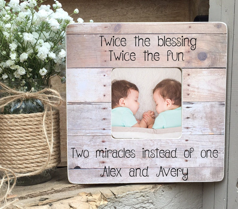 On Sale Personalized Twins Picture Frame Twin Gift  Twin Girls image 0