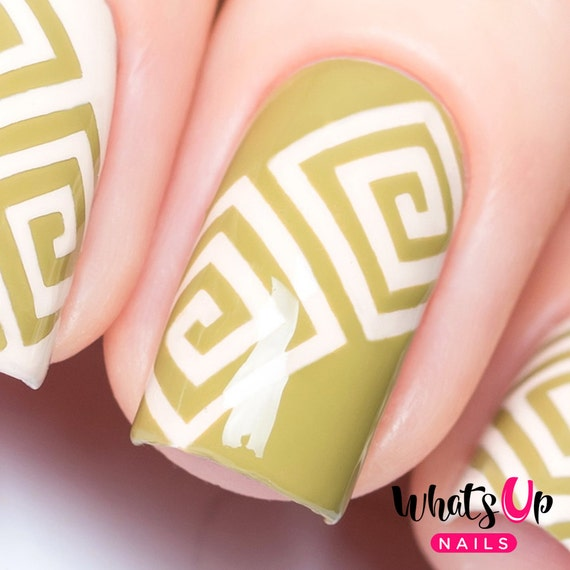 Square Spiral Tape for Nail Art Swirl Stickers for Nails