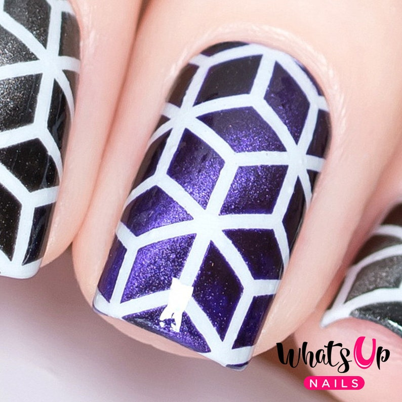 Rhombus Stencils for Nails Nail Stickers Nail Art Nail | Etsy