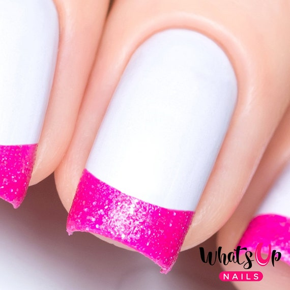 French Tip Tape For Nail Art French Mani Stickers For Nails Etsy