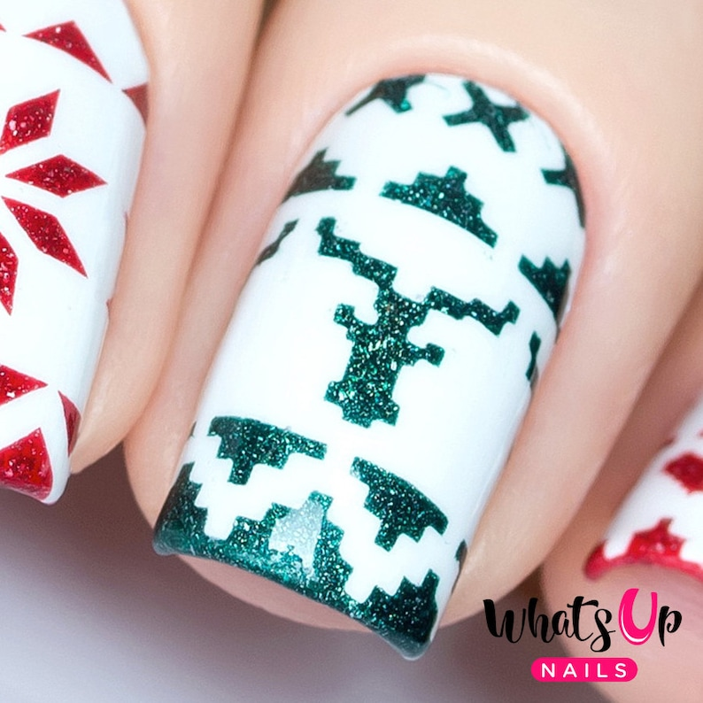 Knit Your Own Sweater Stencils for Nails, Christmas Nail Stickers, Nail  Art, Nail Vinyls