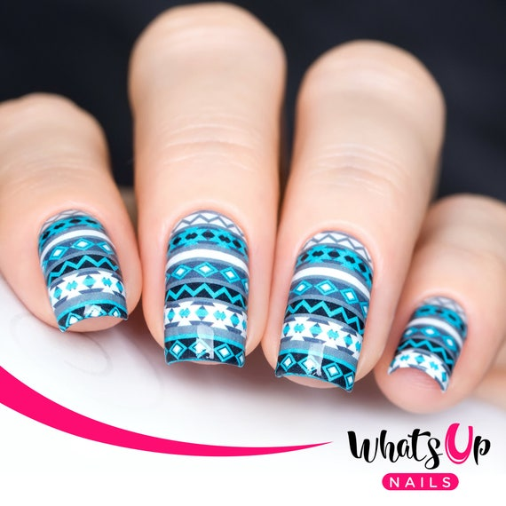 P023 Aztec Harmony Water Decals Sliders For Nail Art Design Etsy