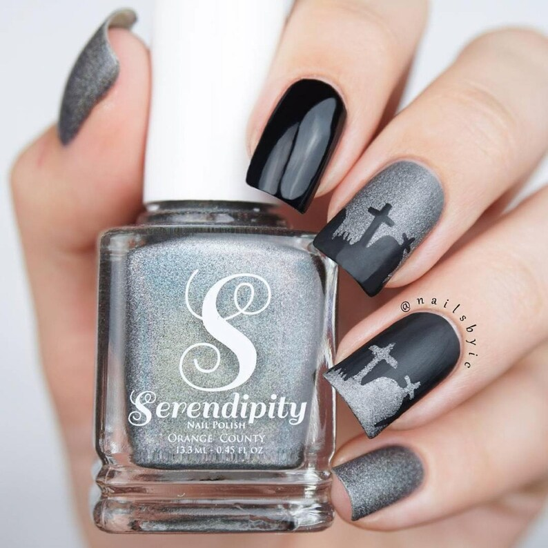 Graveyard Stencils for Nails Halloween Nail Stickers Nail ...