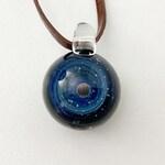 Astronomy jewelry, galaxy pendant