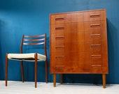 Westergaards Mobelfabrik Danish Mid Century Teak Drawers Retro Vintage 60s
