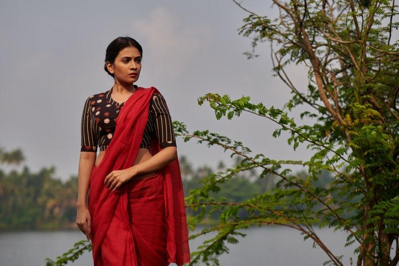 ab64c2f58ba59d Muthumani Blouse / Cotton crop top / Katori blouse | Etsy