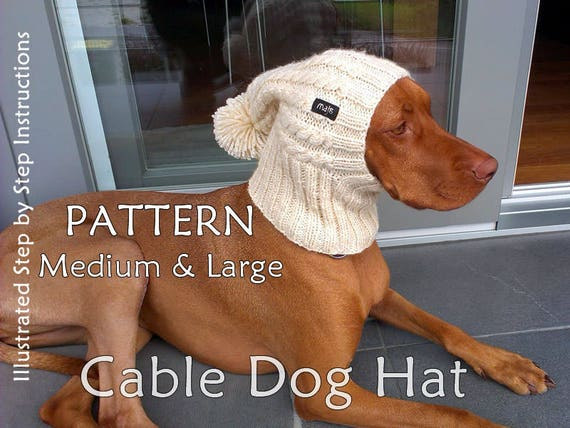 Dog Hat Knit PATTERN Cable Dog Hat Knit PATTERN Beanie Dog Hat Extraordinary Dog Hat Knitting Pattern
