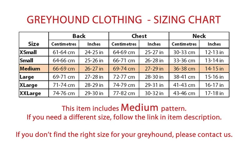 2 in 1 DOWNLOAD SEWING PATTERNS  2 Greyhound Pajamas Medium  Paper sizes: A4 Poster 1 Size Letter