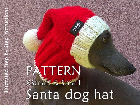 Santa Dog Hat Pattern Christmas Dog Hat Pattern Greyhound Hat
