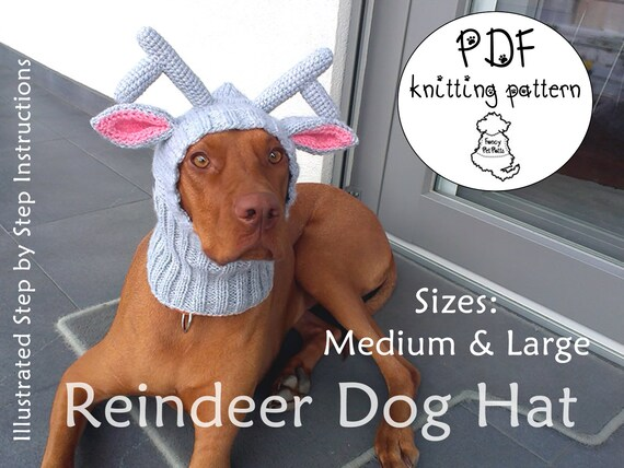 Reindeer Dog Hat Pattern Christmas Dog Hat Pattern Diy Dog Hat