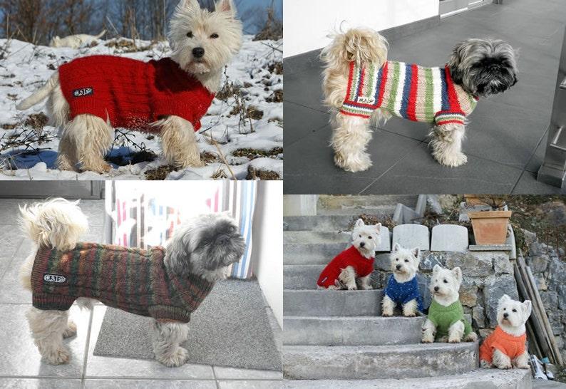 300f46a56a2a ... Dog Sweater Pattern 35 cm 14'' back length/ DIY ...
