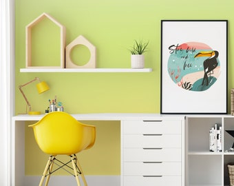 Ombre Yellow, Green and White, Kids or Home Interior, Self Adhesive or Traditional Wallpaper, 2 days Worldwide Shipping