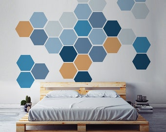 6eb66b761f6 Removable Honeycomb Wall Decal