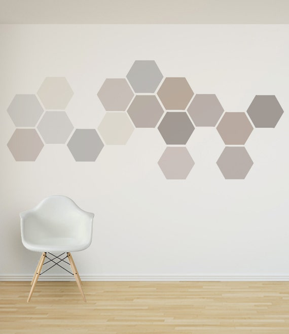 removable honeycomb wall decal 8 hexagon stickers per pack etsy