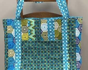 Extra Large Retro Tote Bag