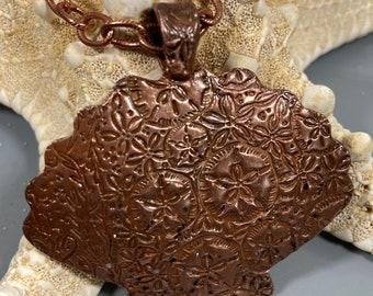 Scallop Shell Necklace Copper w/ Chain