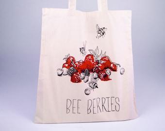 aa6afe8210 Bee Berries Summer Tote Bag