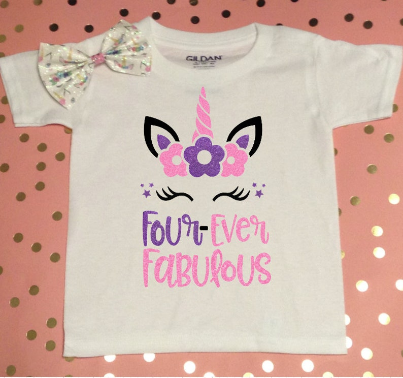Four Ever Fabulous Birthday Shirt 4th