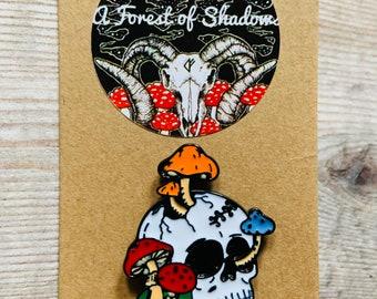 Amanita Magic Mushroom Pin Badge Trippy Pin Kawaii Toadstool Fairy