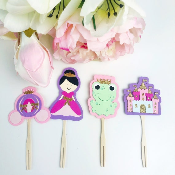 24 PRINCESS CASTLES CUPCAKE TOPPER WAFER RICE EDIBLE FAIRY CAKE  TOPPERS