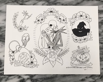 Nighmare Before Christmas flash sheet