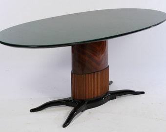Beautiful Art deco Dining room table By Oswaldo Borsani
