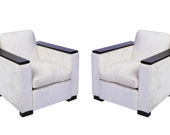 Pair of Jacques Adnet Club / Armchairs