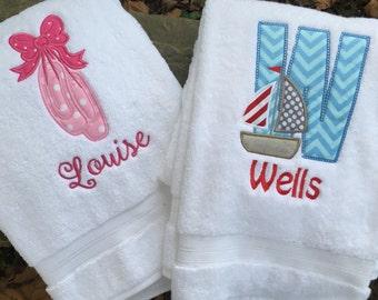 Personalized Children's Bath Towel