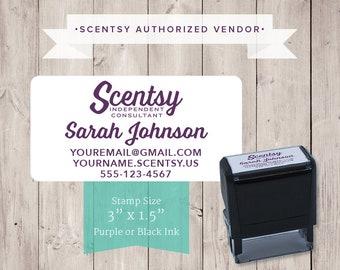 Authorized Scentsy Vendor • Scentsy Catalog Self-Inking Info Address Stamp/Stamper