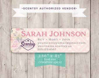 PRINTED LABELS Authorized Scentsy Vendor Scentsy Catalog Label Sticker Rad Paisley