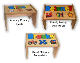 Puzzle Stool Name & Shapes