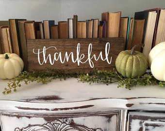 Thankful - Wood Sign
