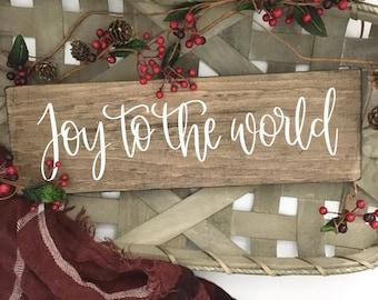 Joy To The World - Wood Sign