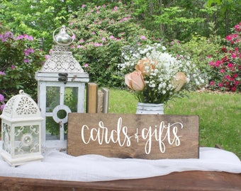 Cards & Gifts - Wood Sign