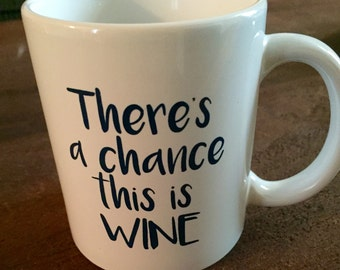 There's a chance this is WINE, White Ceramic Coffee or Tea Mug