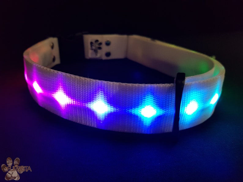 Nylon LED Fursuit collar 1.5  Furrista image 0