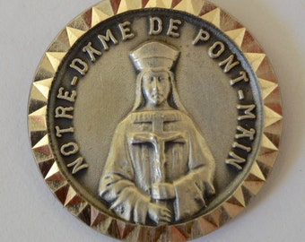 Our Lady of Pontmain - French Religious Medal Pendant Charm - Religious Necklace - Virgin Mary Protective Medal