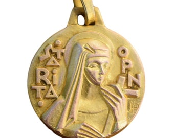 Saint Rita PY Medal  Patron Of Lost Causes And Difficult Marriages