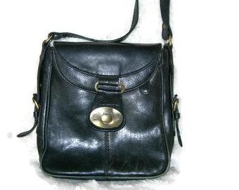 cb82822ca6 Vintage Real Leather BOXCA Black Crossbody Bag Ladies Vintage Black Leather  Bag Black Purse Boho Bag Genuine Black Leather Bag