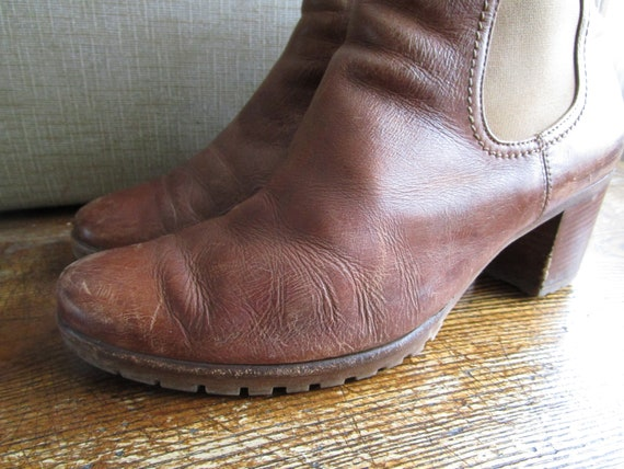 Genuine Size in Soft Distressed Hippie Chelsea Boho Vintage Uk Grunge Leather Booties 7 Brown Bohemian Cognac GABOR Ankle Leather Boots gWn1gfw0Fq