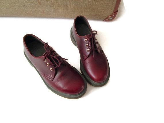 Vintage The Original Doc Martens Wine Red Leather