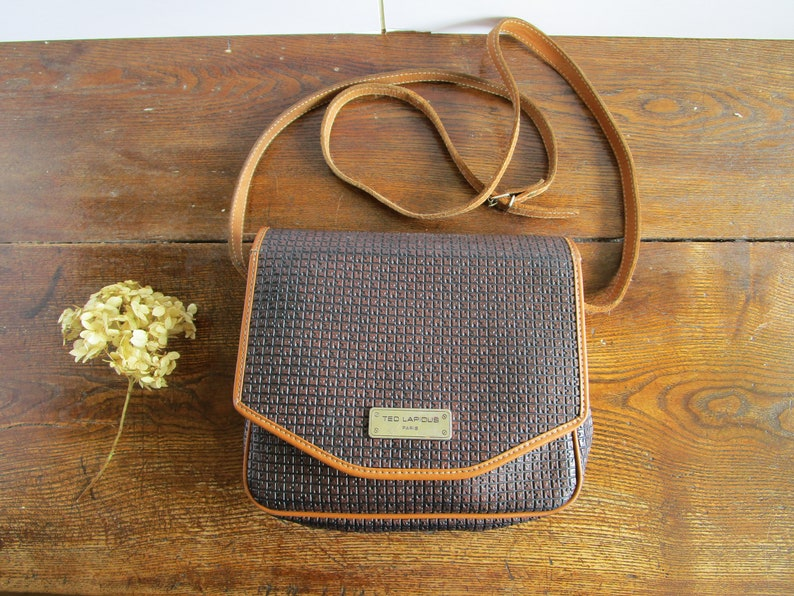 9a3f11c5dee3 Vintage Ted Lapidus Bag Paris Brown Ladies Cross-body Bag Vintage Designer  Bag Brown Shoulder Bag Brown Vintage Purse Handbag