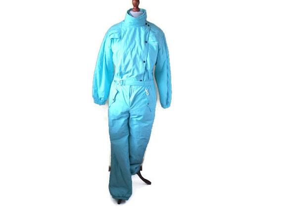 Vintage Ski Suit One Piece Snow Jumpsuit, Retro, L