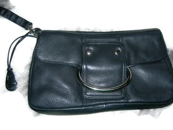 Vintage Black Leather Clutch Bag TULA Small Clutch Handbag  755a46a9ac3af