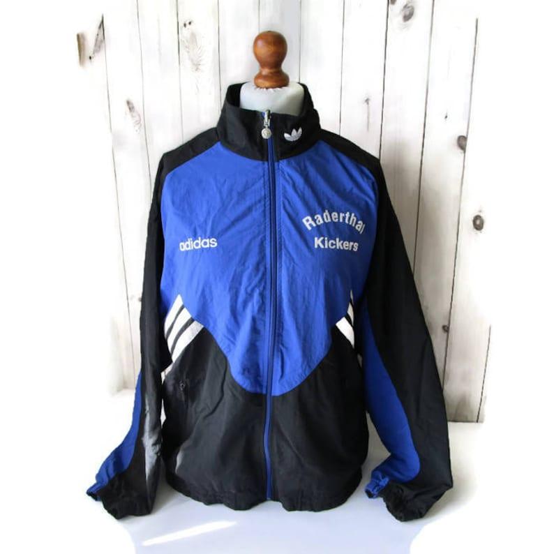 a1feac85c008 Vintage ADIDAS Jacket Vintage 80s Sport Jacket Reversible