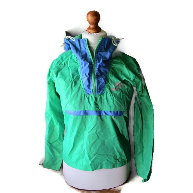 f3cefcab NIKE Windbreaker 80s Vintage Pullover Blue Green Light Rain | Etsy